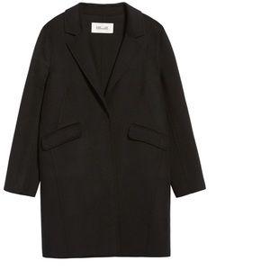 DVF Double Faced Wool Blend Walker Coat